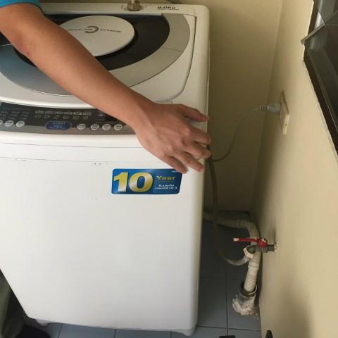洗濯機用 浄水軟水器 施工前